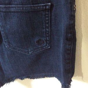 Carmar Shorts - CARMAR Black Denim Jean Shorts Raw Edges
